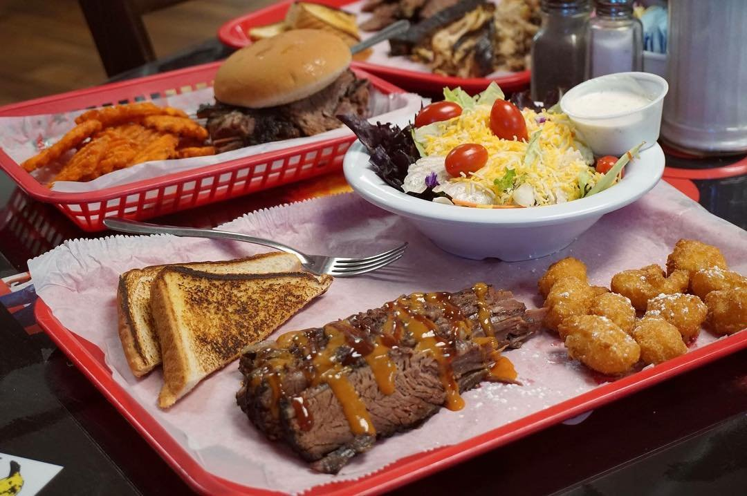 A BBQ meal from Big John's BBQ