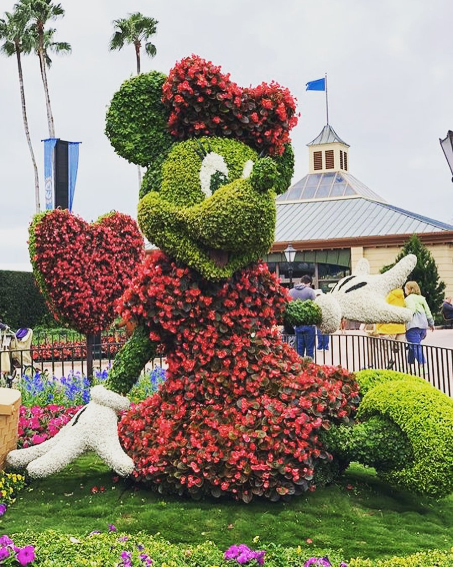 A floral recreation of Minnie Mouse