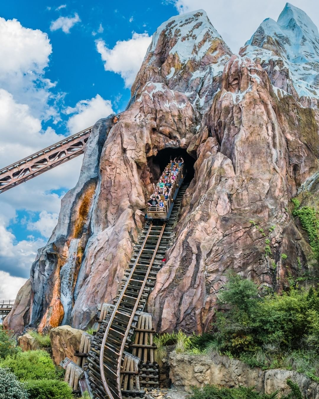 Riders enjoy Expedition Everest – Legend of the Forbidden Mountain®