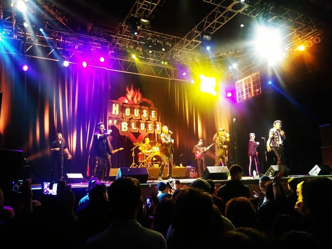 A band performs at House of Blues Orlando