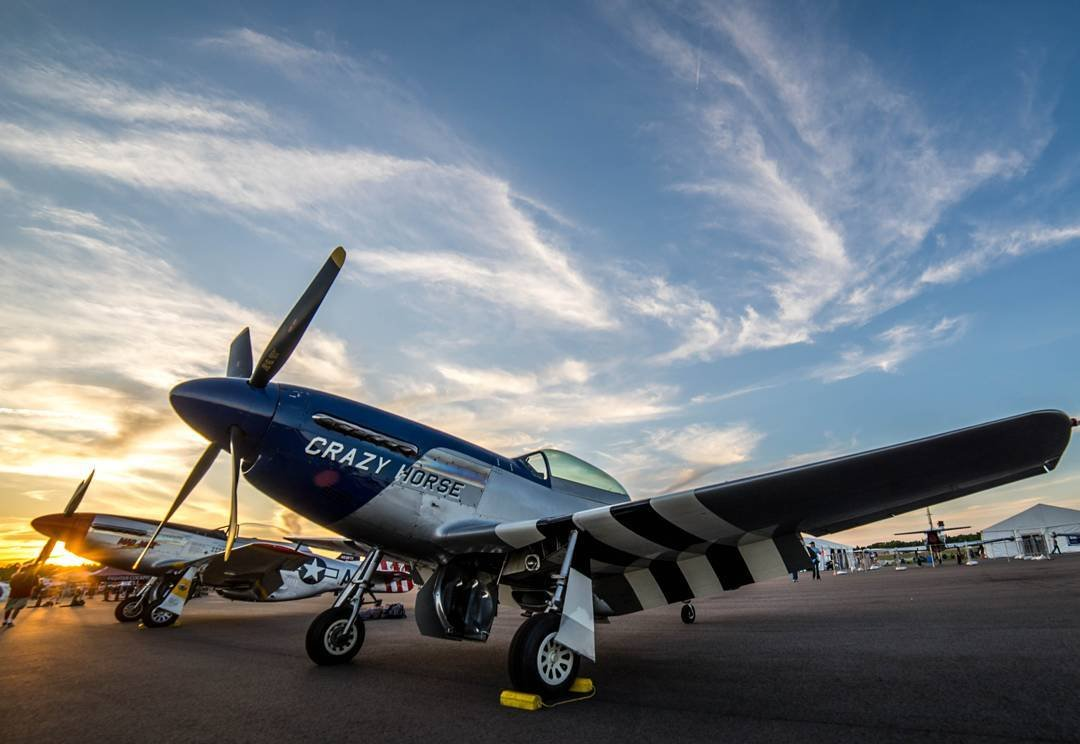 A plane named crazy horse at Stallion 51 in Kissimmee