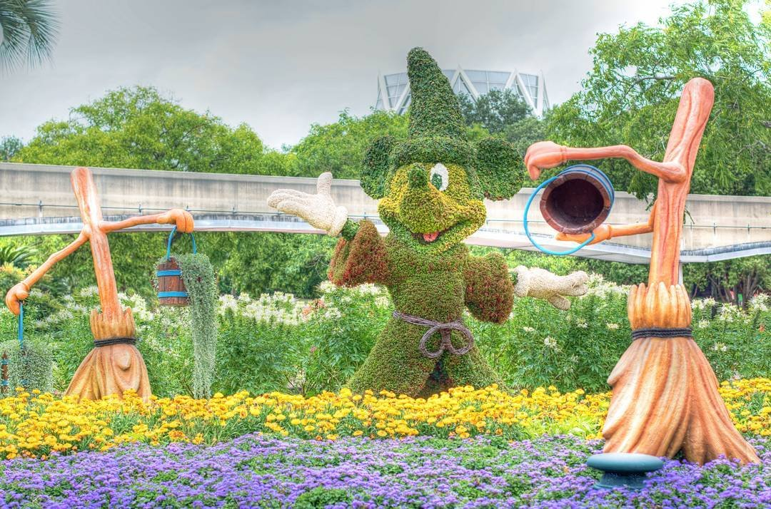 Mickey Mouse topiary at Epcot International Flower & Garden Festival