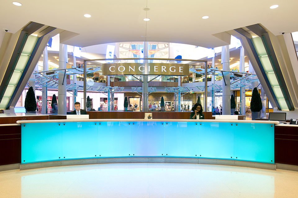 The concierge at The Mall at Millenia is ready to tend to your every need.