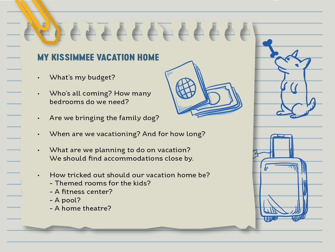 A list of questions to consider when selecting a vacation home rental. Kissimmee, Florida has a vacation home for everyone!