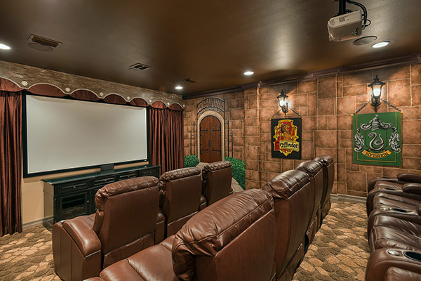 Harry Potter-themed home theater