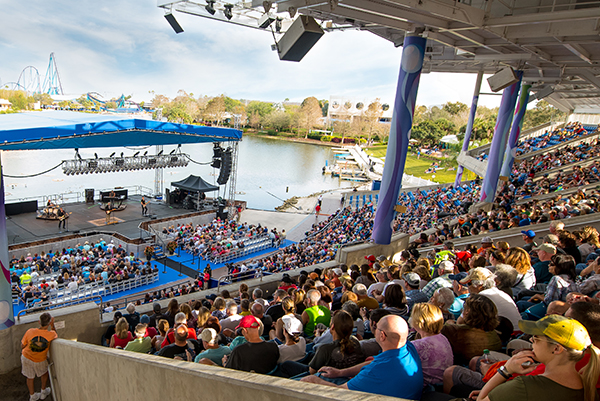 Enjoy top country, rock, and Latin artists each week at the Bayside Stadium.