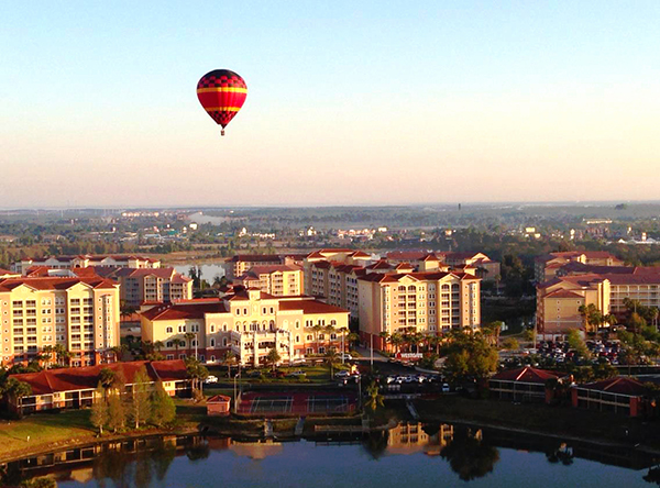 Enjoy breathtaking views of Kissimmee from a hot air balloon.