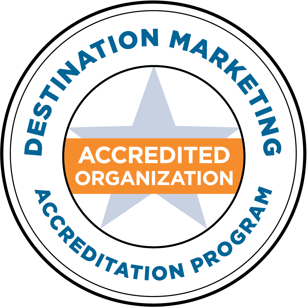 Destination Marketing Accreditation Program Seal for Accredited Organizations