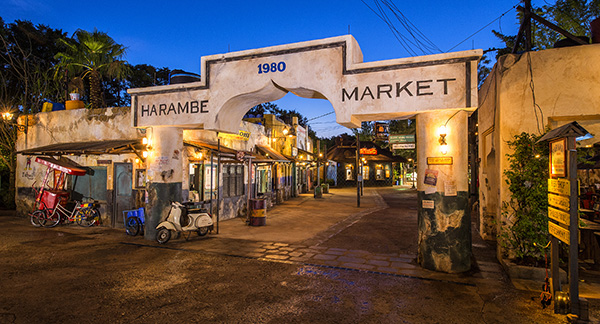 Harambe Market has a wide variety of fruits and vegetables.