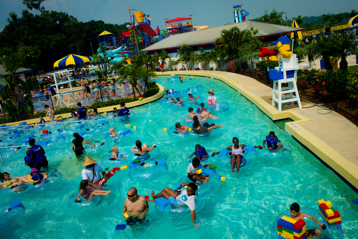 The Build-A-Raft River at the LEGOLAND Waterpark