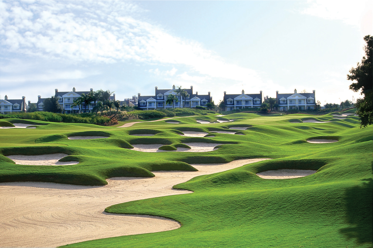 The 9th hole on the Watson Course at the Reunion Resort and Golf Club