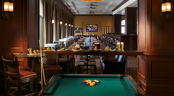 Enjoy the game in style at David's Club.