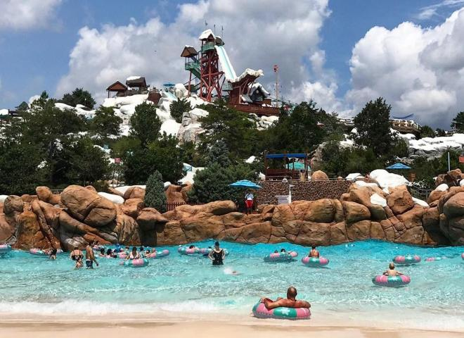 A pool at Disney's Blizzard Beach Water Park
