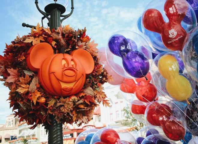 Main Street U.S.A. with Halloween decorations