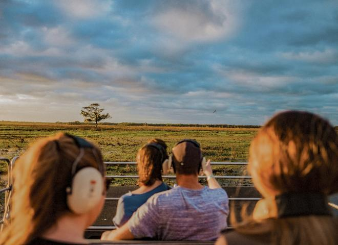 An airboat ride at Wild Florida