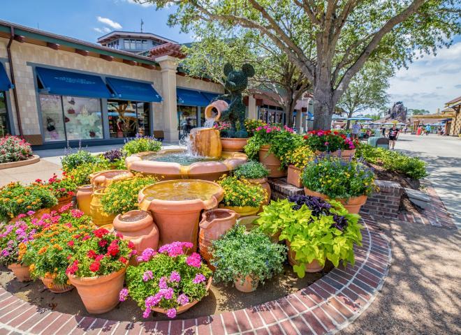 A floral arrangement at Disney Springs