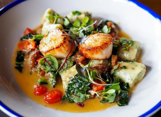Scallop dish at Raglan Road Irish Pub, Kissimmee