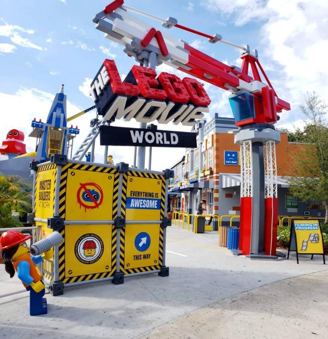 Entrance to LEGO Movie World