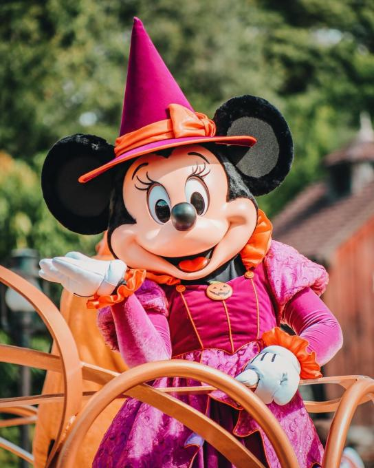 Minnie Mouse dressed for Halloween