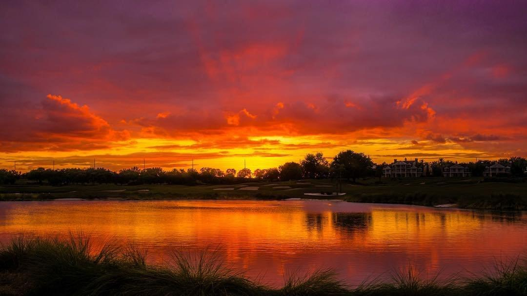 A colorful sunset in Kissimmee
