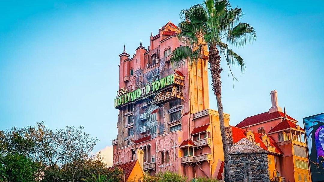 Exterior shot of Twilight Zone Tower of Terror in Disney's Hollywood Studios