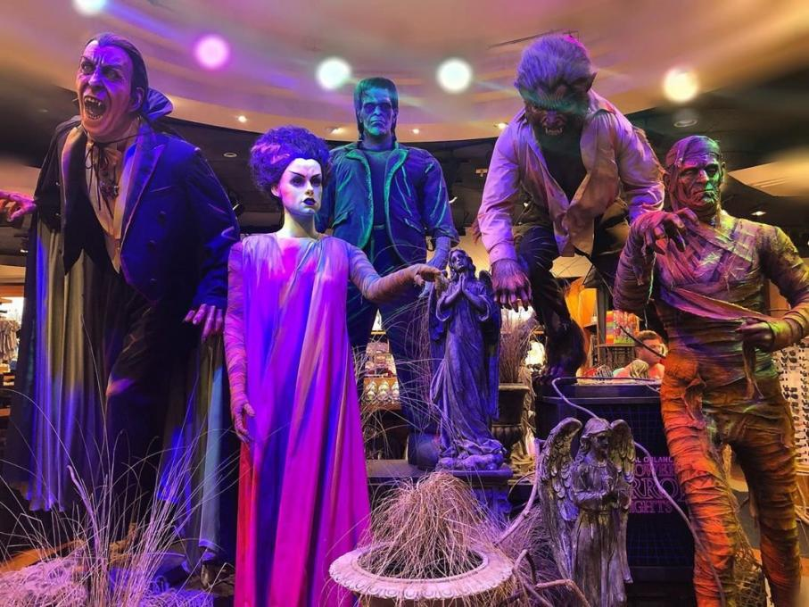 Monster statues at Universal Studios Florida