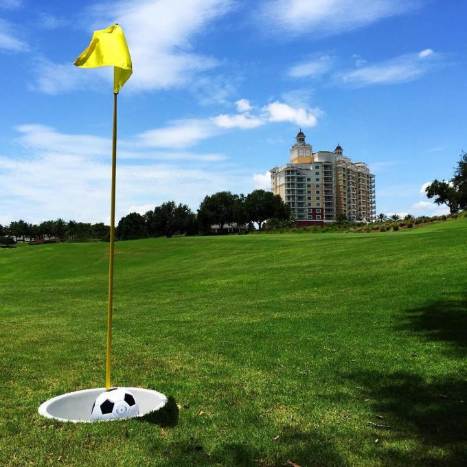 Foot golf at the Reunion Resort