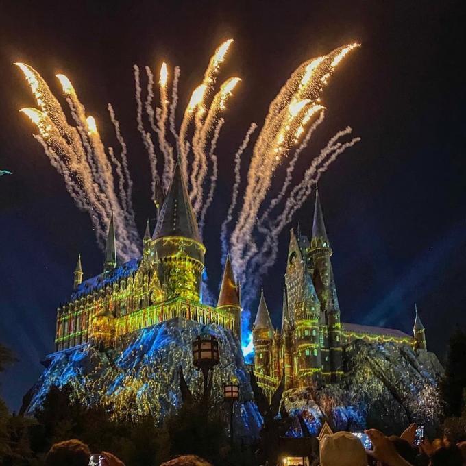 Fireworks over Hogwarts