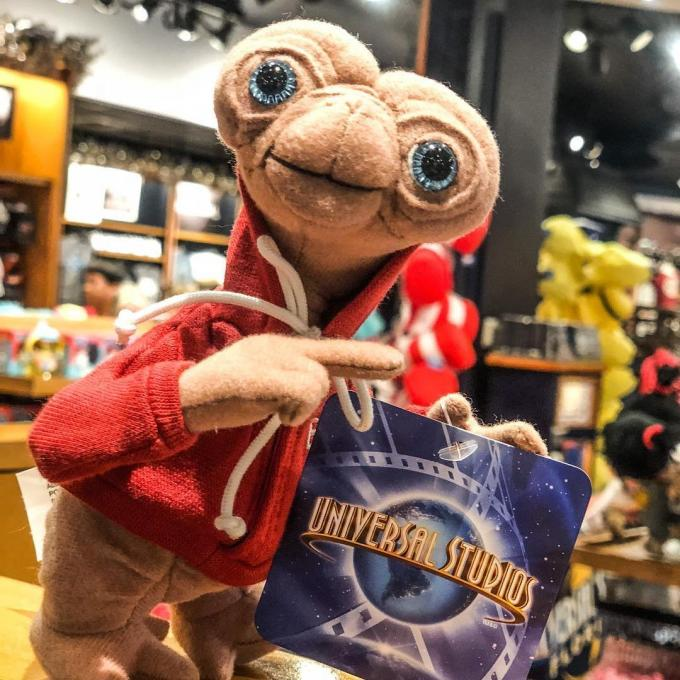 A stuffed toy ET