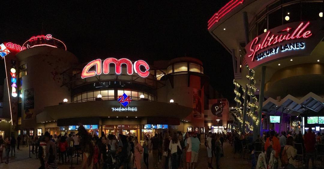AMC Movie Theatre and Splitsville Luxury Lanes in Disney Springs