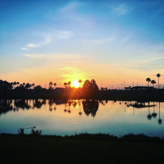 A colorful sunrise in Kissimmee