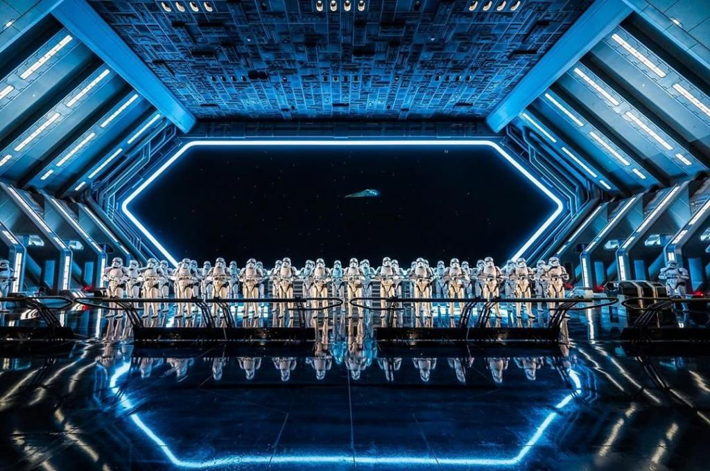 Storm Troopers at Star Wars: Rise of the Resistance