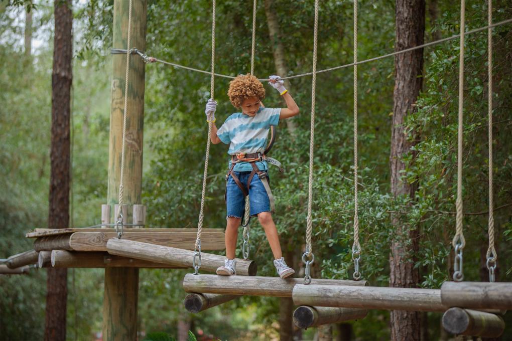 A child at Orlando Tree Trek Adventure