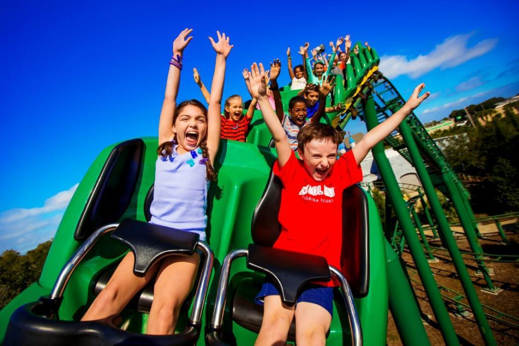 A rollercoaster at LEGOLAND