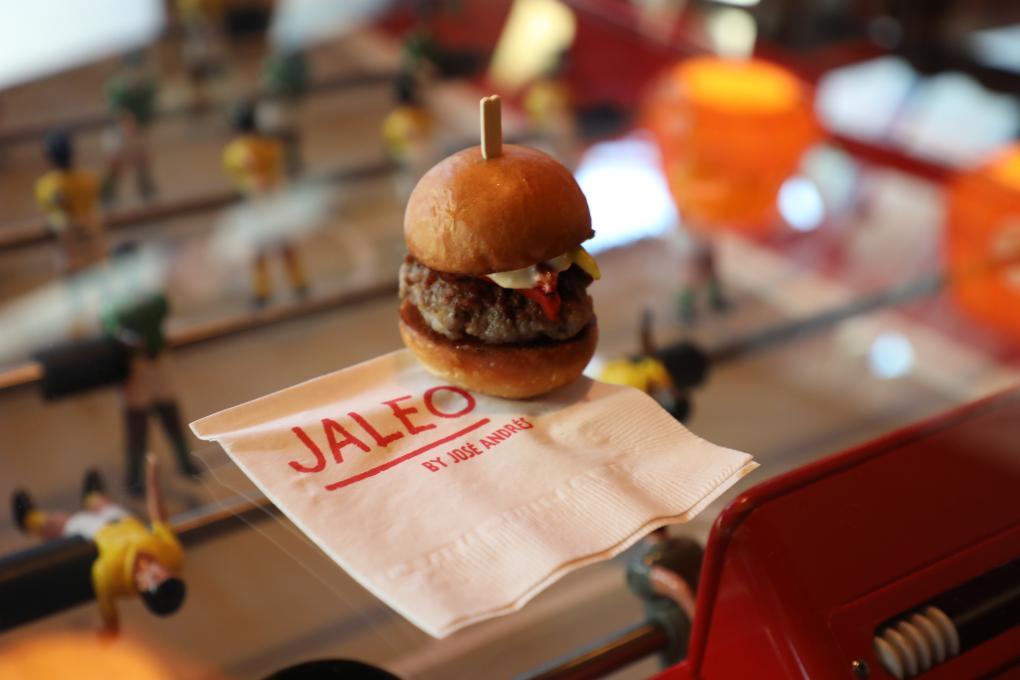 Mini burger at Jaleo
