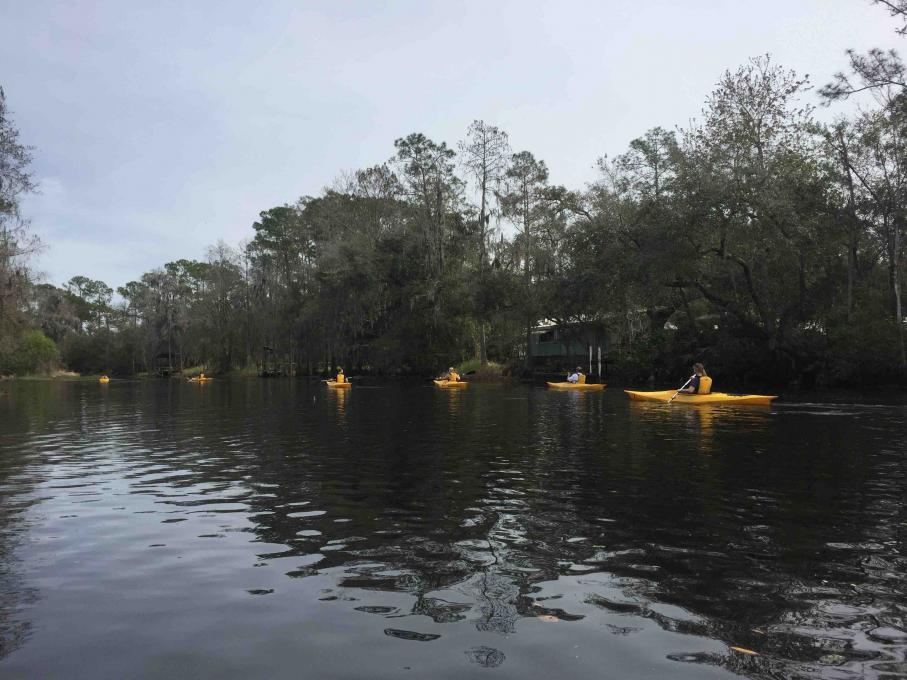 A group of paddlers at Shingle Creek