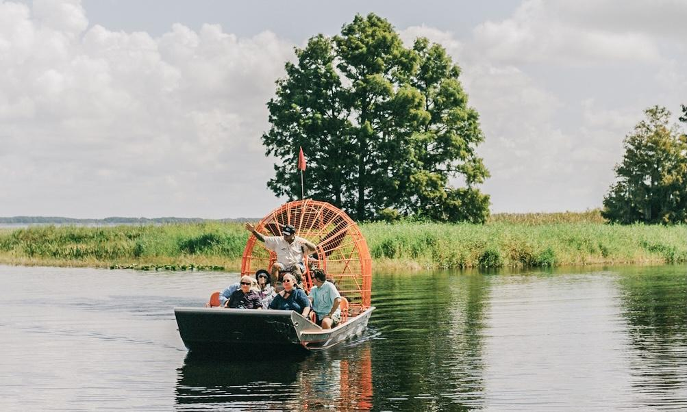 An airboat at Boggy Creek Airboat Adventures