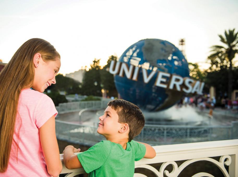 The iconic Universal Studios Globe
