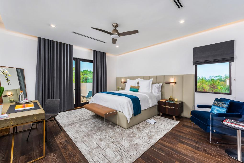 Bedroom decor of vacation homes