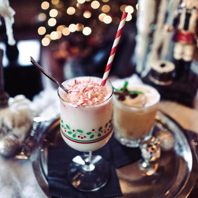The Christmas in Aspen drink from Mathers Social Club