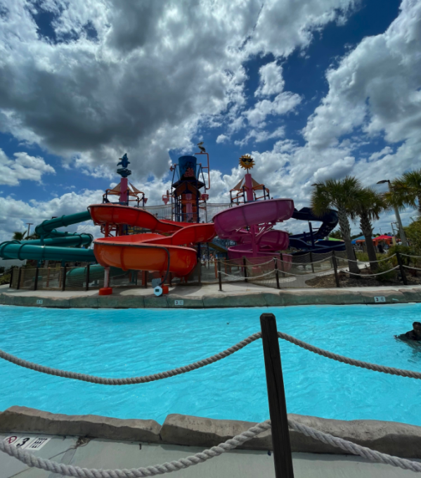 Waterslides at a waterpark