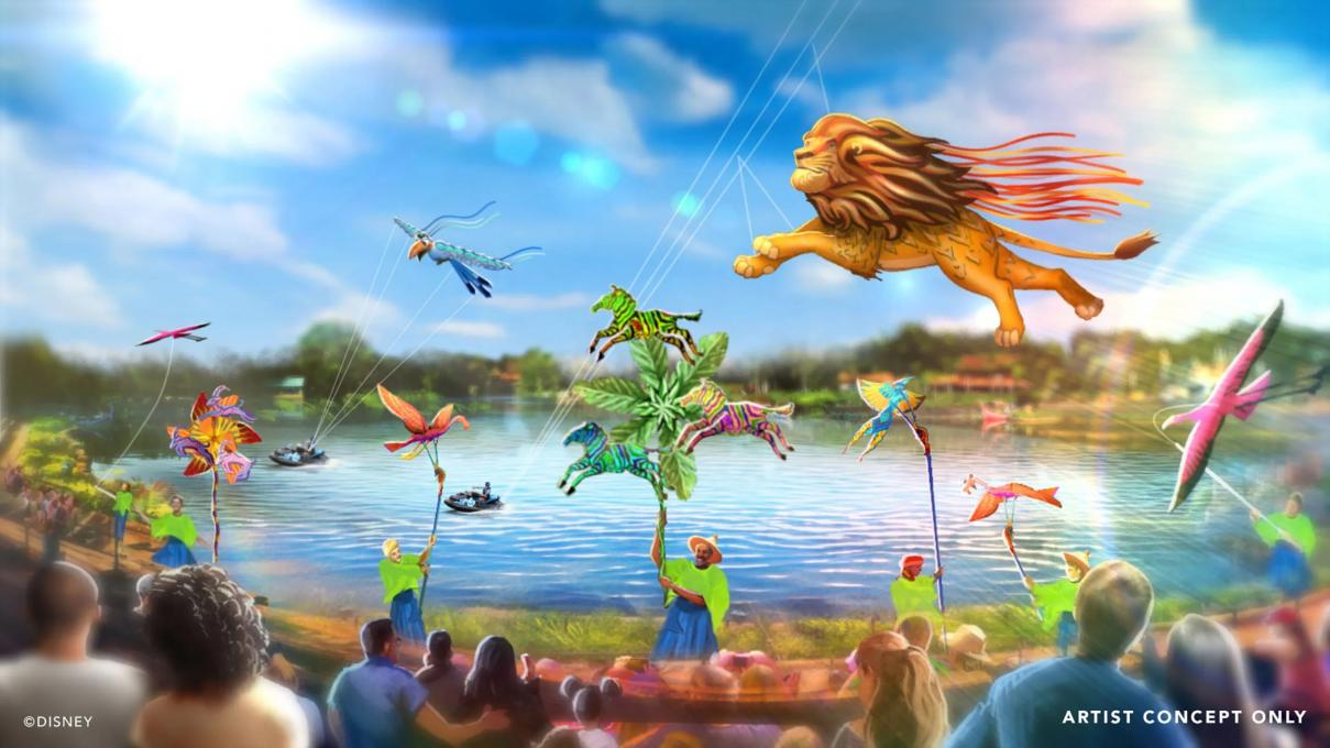 Rendering of Animal Kingdom, Disney, Lion King