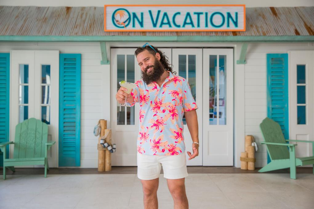 A Chubbies model at Margaritaville