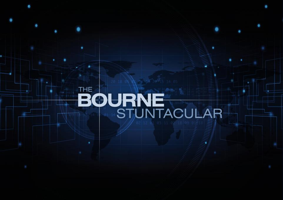 The Bourne Stuntacular logo