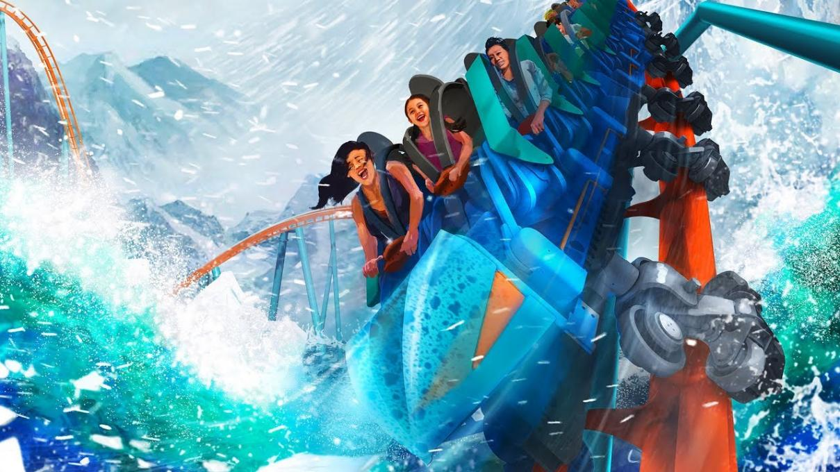 Artist rendering of Ice Breaker at SeaWorld Parks and Resorts Orlando