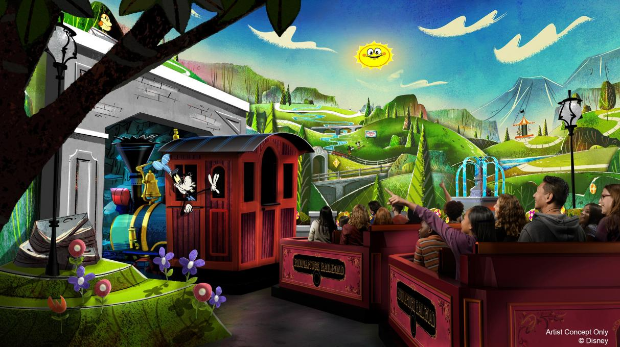 Vacationers ride Mickey's Runaway Railway