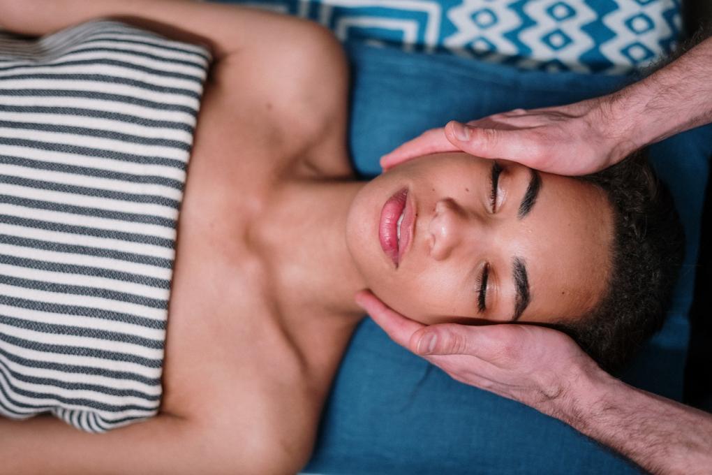 A woman enjoys a facial at Mokara Spa at Omni Orlando Resort