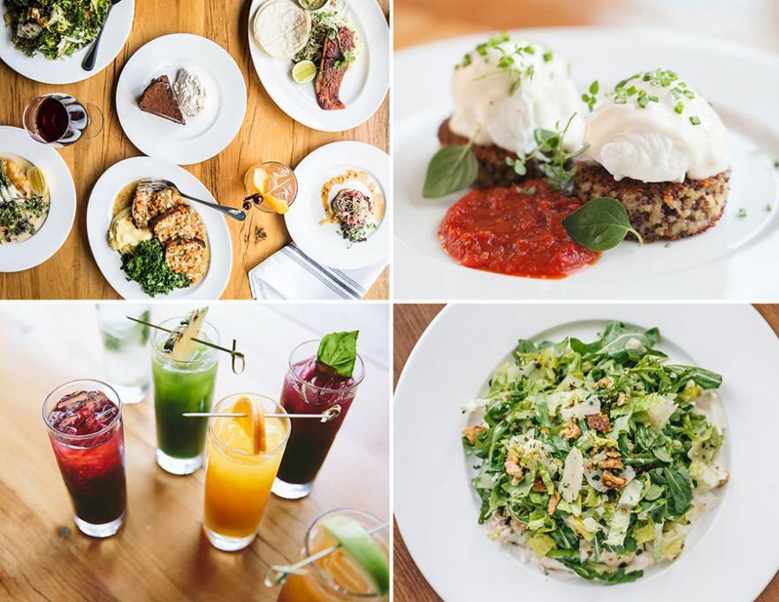 Various food options at Beatrix