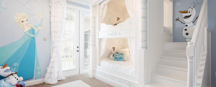 The kids won't want to leave the vacation home with fun themed bedrooms