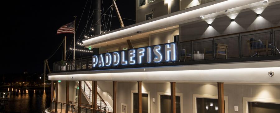 Paddlefish Side Deck Night Shot